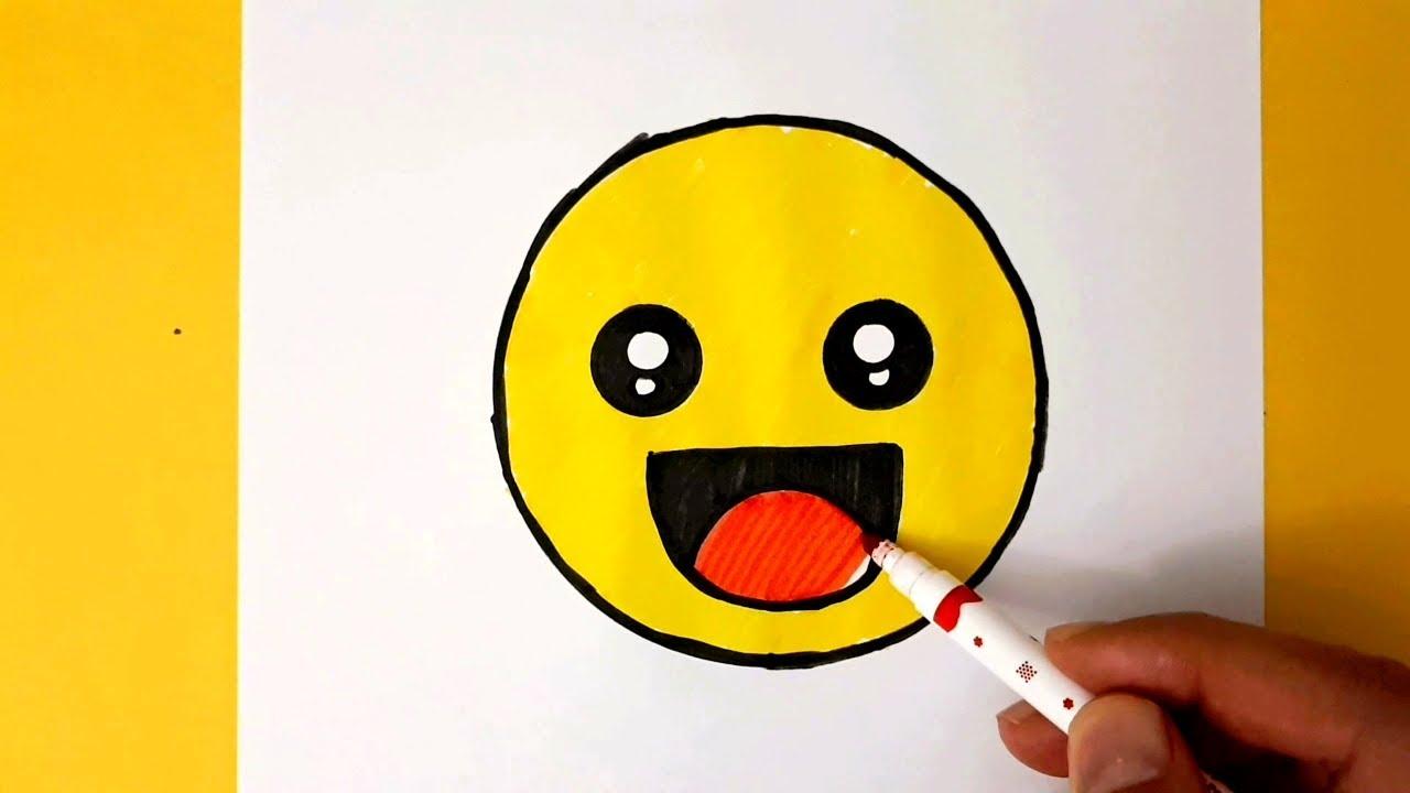 Ağlayan Emoji Nasıl Çizilir? - How To Draw The Crying Emoji - Sad Face Emoji