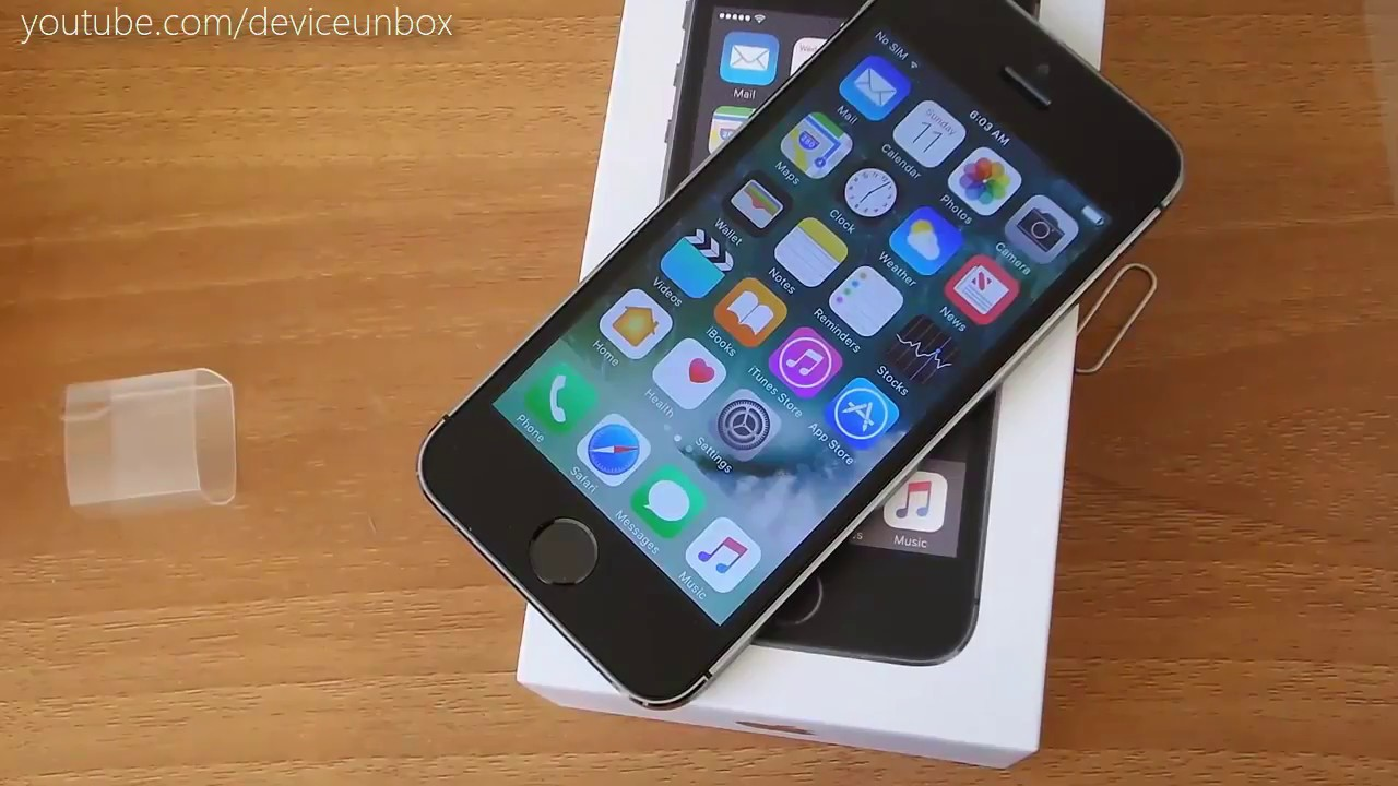 Iphone 5s Unboxing - YouTube