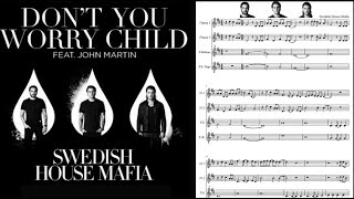 Don't you worry child (versión acústica). Swedish House Mafia. Partitura flauta dulce.
