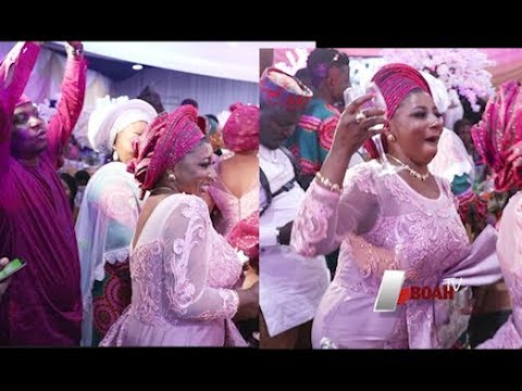 Watch Mide Martins &her husband,Others rocking the dance floor at Ayo Adesanya 50th birthday party