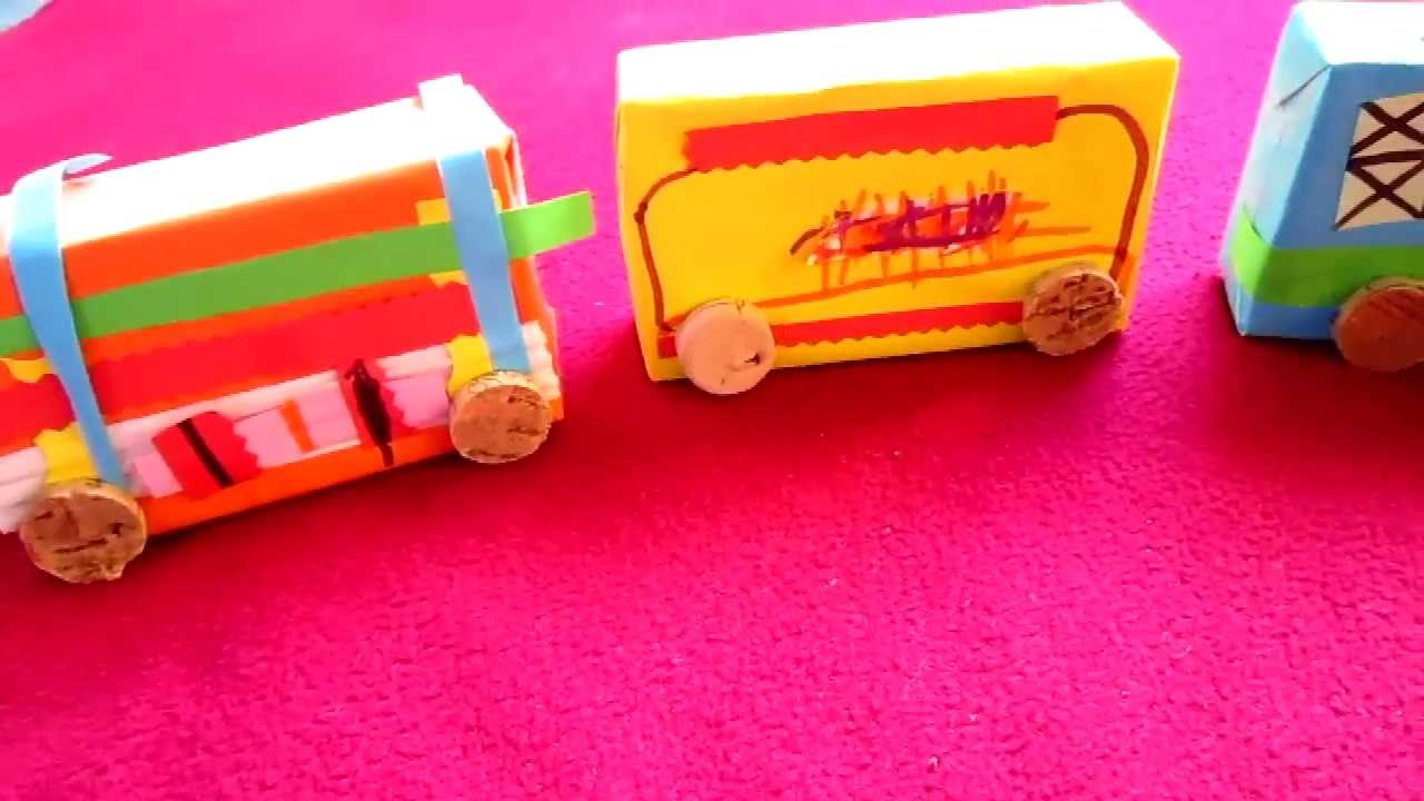 Arts Crafts Cardboard Box And Paper Train