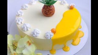 Кокосовый торт с ананасом (рецепт под видео)
