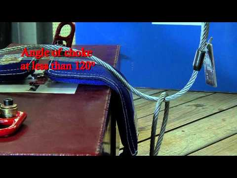 Crosby Rigging Tips - The Choker Hitch: Wire Rope Slings - Universal