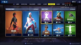 SKULLY Skin, GLOWSTICKS & T-POSE Emotes ARE BACK - March 23rd Fortnite Daily Item Shop LIVE