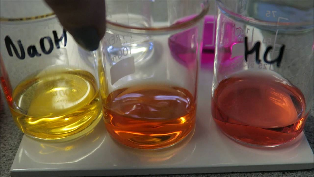 Indicators for titrations - Methyl orange and phenolphthalein - YouTube for Methyl Orange Indicator  181obs