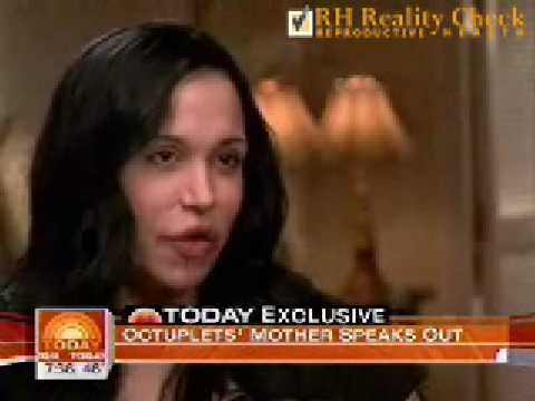 Nadya Suleman, Mother of Octuplets, ed on Today