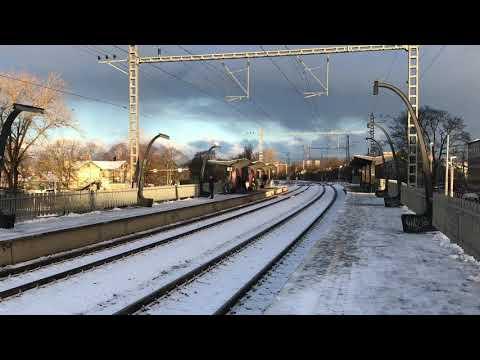 ELRON Tallinn Commuter train to Paldiski calling Tondi Station.