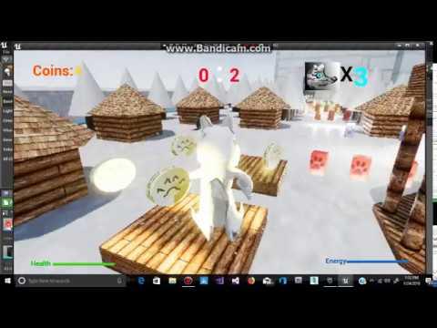 White Wolf - Treasure Hunter - Health + Energy Watch Bars 0 - Game Over Menu Appears