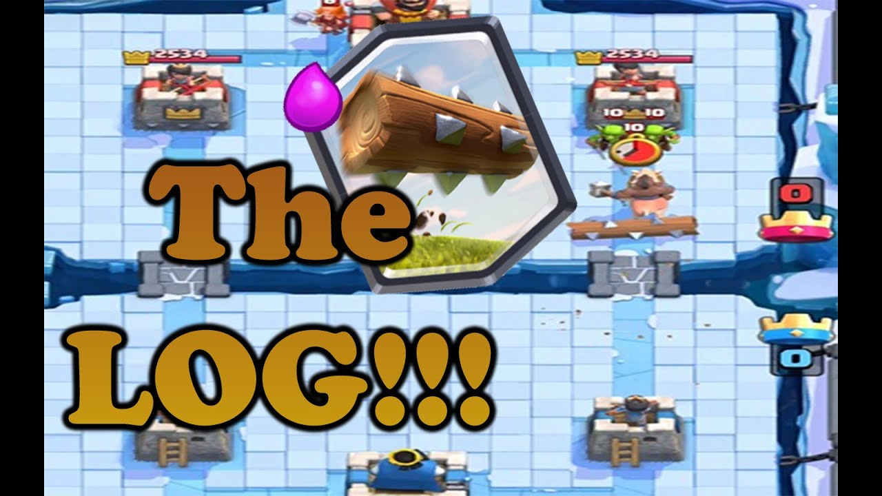 Clash royale strategy the log great addition to hog