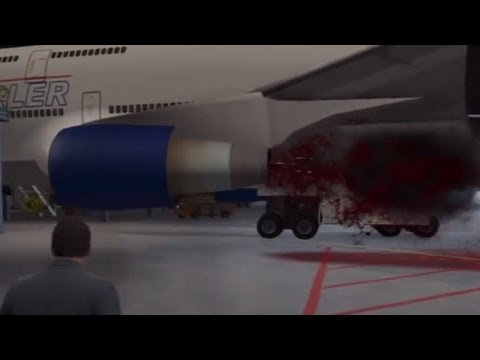 GTA V: Molly Sucked Into Jet Engine