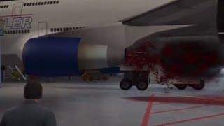 GTA V: Molly Sucked Into Jet Engine