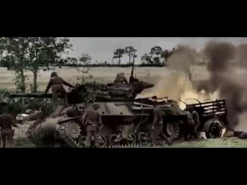 Normandy 1944 - Combat Footage with Sound