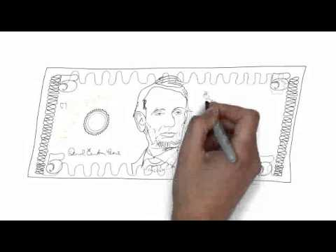 How To Draw 5 Us Dollar Youtube