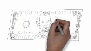 How To Draw 5 Us Dollar