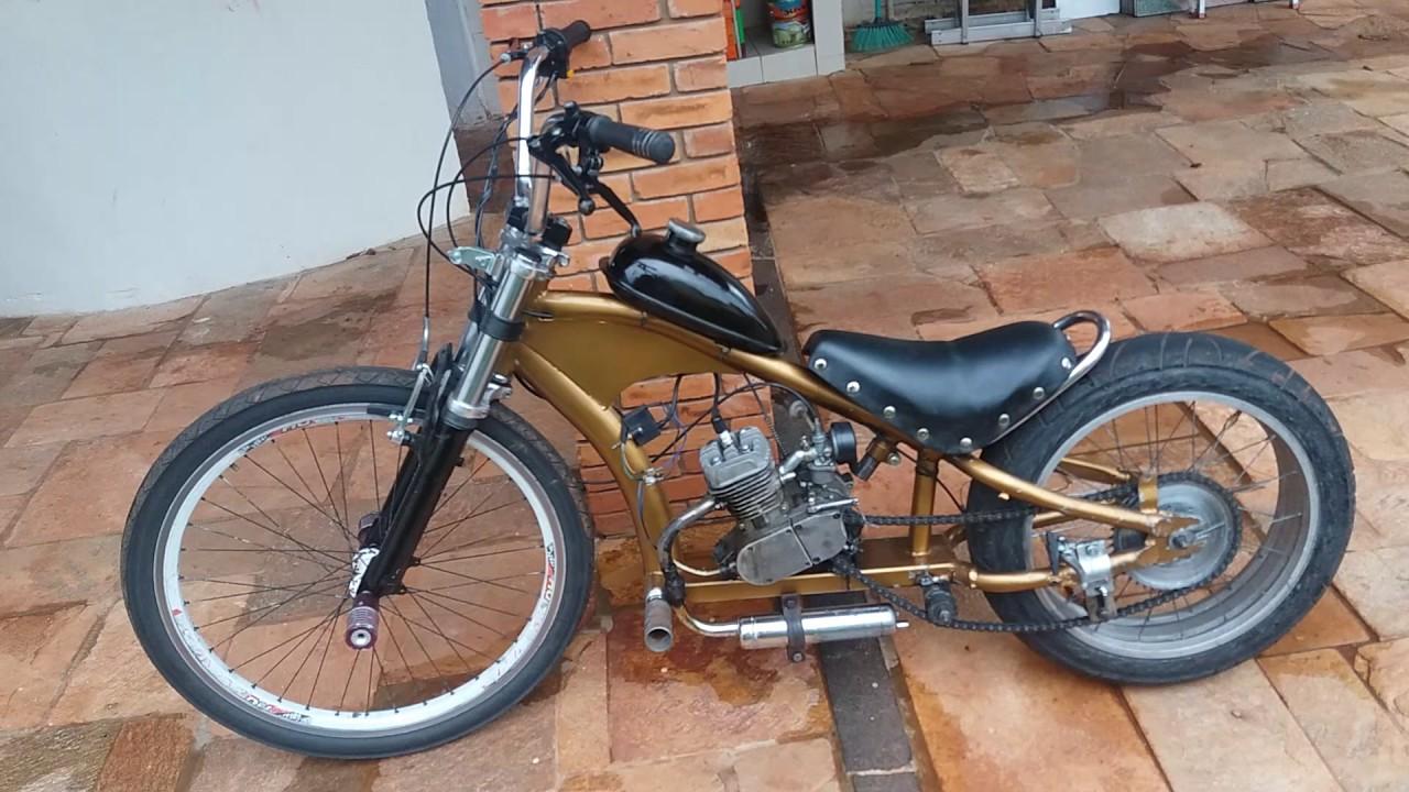 bike chopper motorizada 80cc youtube. Black Bedroom Furniture Sets. Home Design Ideas