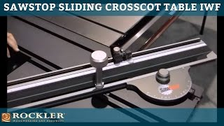 Sawstop Sliding Crosscut Table At Iwf 14 By Woodworker's Journal
