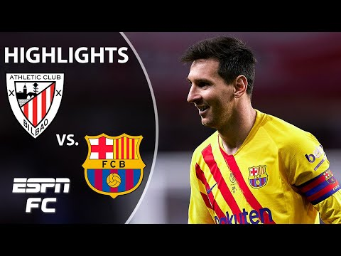STUNNING from Lionel Messi! Barcelona trounces Athletic Bilbao 4-0! | ESPN FC Copa Del Rey Highlight