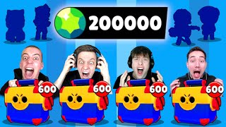 200.000 GEMS💎 MEGA BOX OPENING BATTLE! 20x LEGENDÄRER BRAWLER! 😱 Brawl Stars deutsch