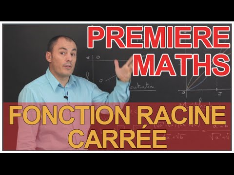 Fonction racine carrée - Maths 1ère - Les Bons Profs