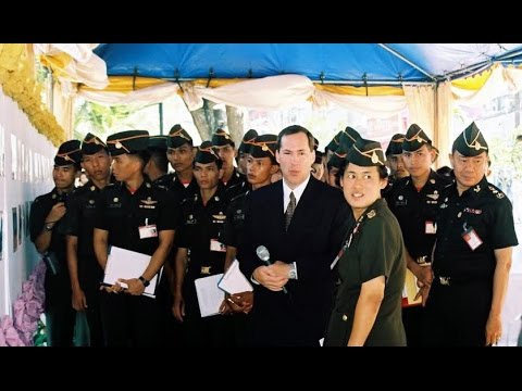 Drew Noyes and Us Soldier Meeting Thailand Princess Sirindhorn