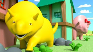 Verstecken - Lerne mit Dino dem Dinosaurier 👶 Lehrreiche Cartoons für Kinder