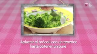 Sémola de arroz con brócoli