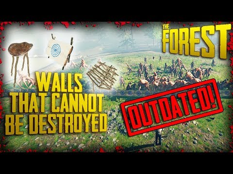 INVULNERABLE WALLS! - Walls that CANNOT be destroyed (v0.70)    The Forest