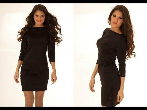 Женские платья черного цвета купить на AliExpress