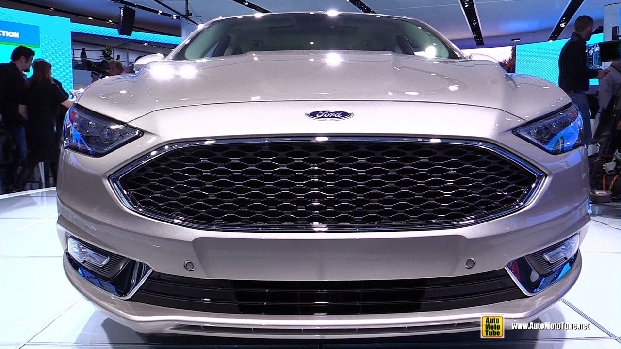 2017 Ford Fusion Platinum Exterior And Interior Walkaround Debut At 2016 Detroit Auto Show
