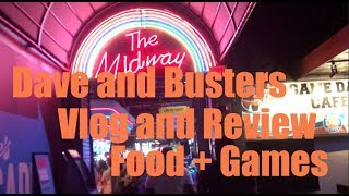 Dave and Busters Vlog and Review (Games and Food!)