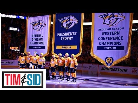 Nashville Predators Raise Regular Season Banner For Everyone To Laugh At | Tim and Sid