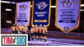 Nashville Predators Raise Regular Season Banner For Everyone To Laugh At | Tim and Sid