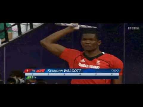 2012 London Olympics Keshorn Walcott Javelin GOLD Trinidad & Tobago