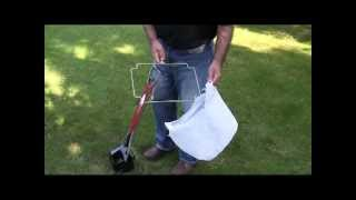 Dog Poop Pick Up Using Shopping Bags And The Pet Waste Wicket