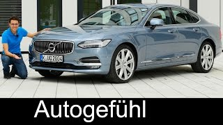 Volvo S90 V90 FULL REVIEW test driven T6 Inscription R-Design sedan/estate all-new neu