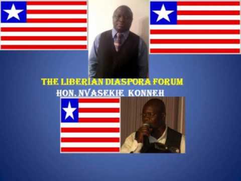 LIBERIAN DIASPORA FORUM with Author, Hon. Nvasekie  Konneh