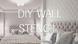 Bedroom Update: Stencil Wall | DIY Wallpaper Effect Thumbnail