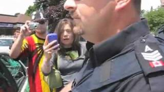 Police Brutality? Niagara Falls Canada at Free Mark Emery protest (short version)