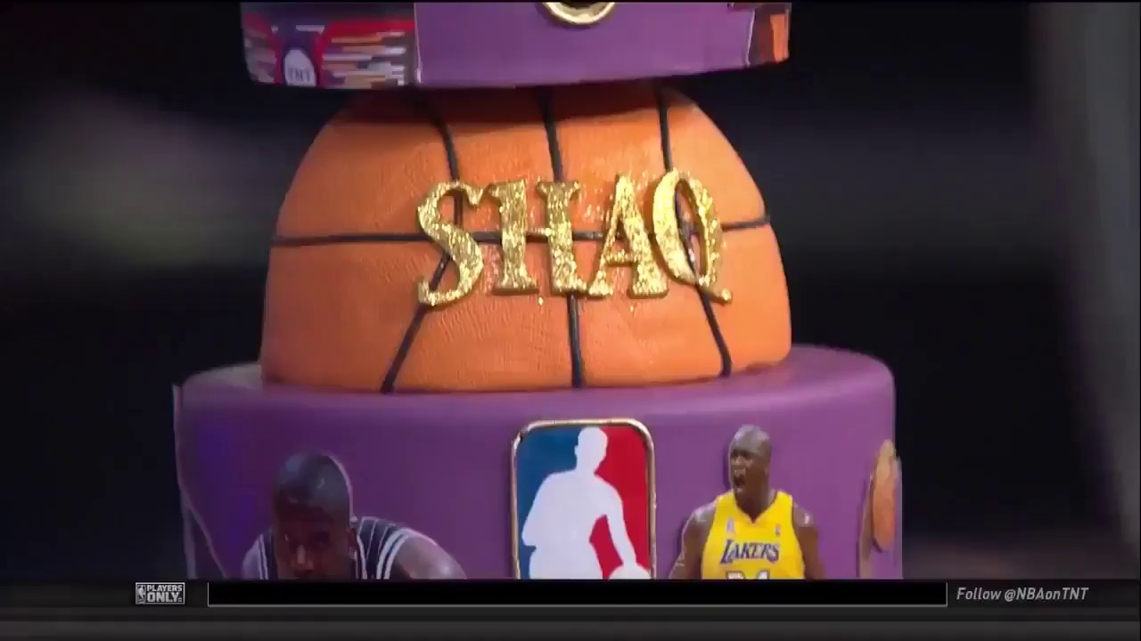 Shaq Gets A Custom Birthday Cake Inside The Nba Youtube
