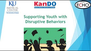 Back to School with Better Behavior ECHO Session 1: Support Children with Disruptive Behaviors