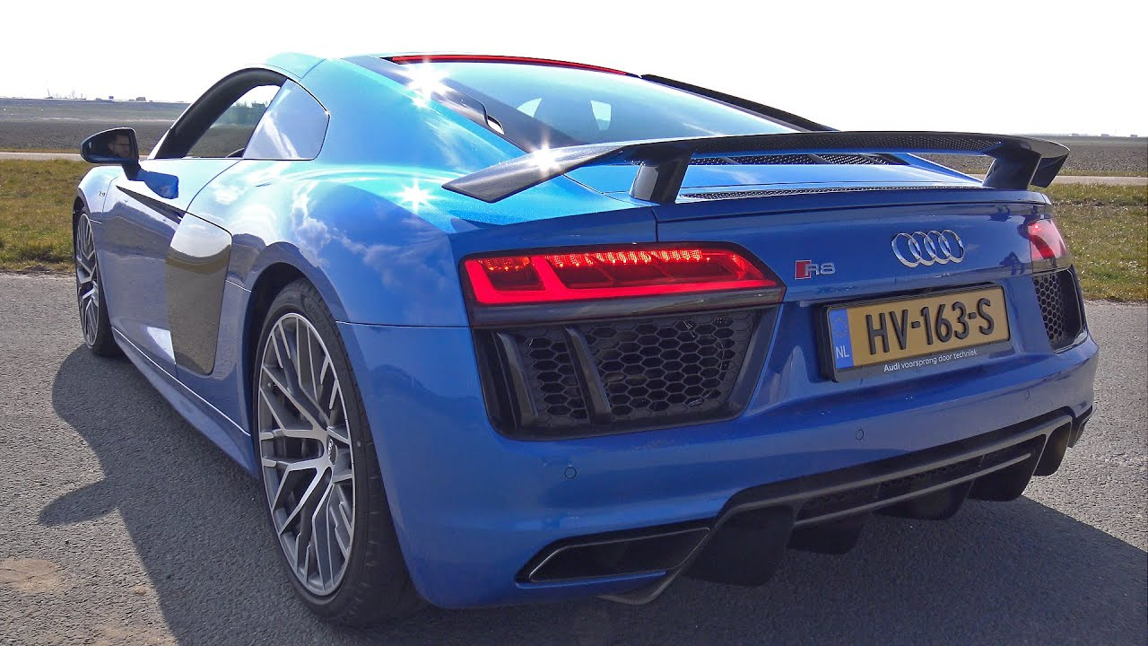 [4K] Audi R8 V10 Plus W/ Sport Exhaust   Revs, Launch Control U0026 More!    YouTube