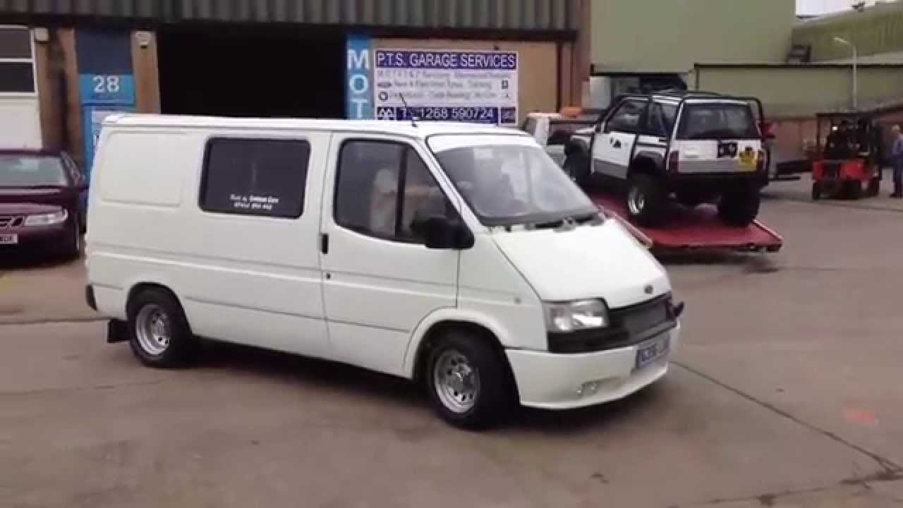 ford transit mk3 v6 39 loud exhaust 39 youtube. Black Bedroom Furniture Sets. Home Design Ideas