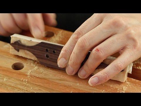 Restoring an antique parlour guitar part 21: Bridge clamping caul
