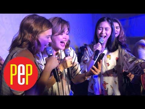 Judy Ann Santos sings with Sarah Geronimo, Angelica Panganiban, and Aegis