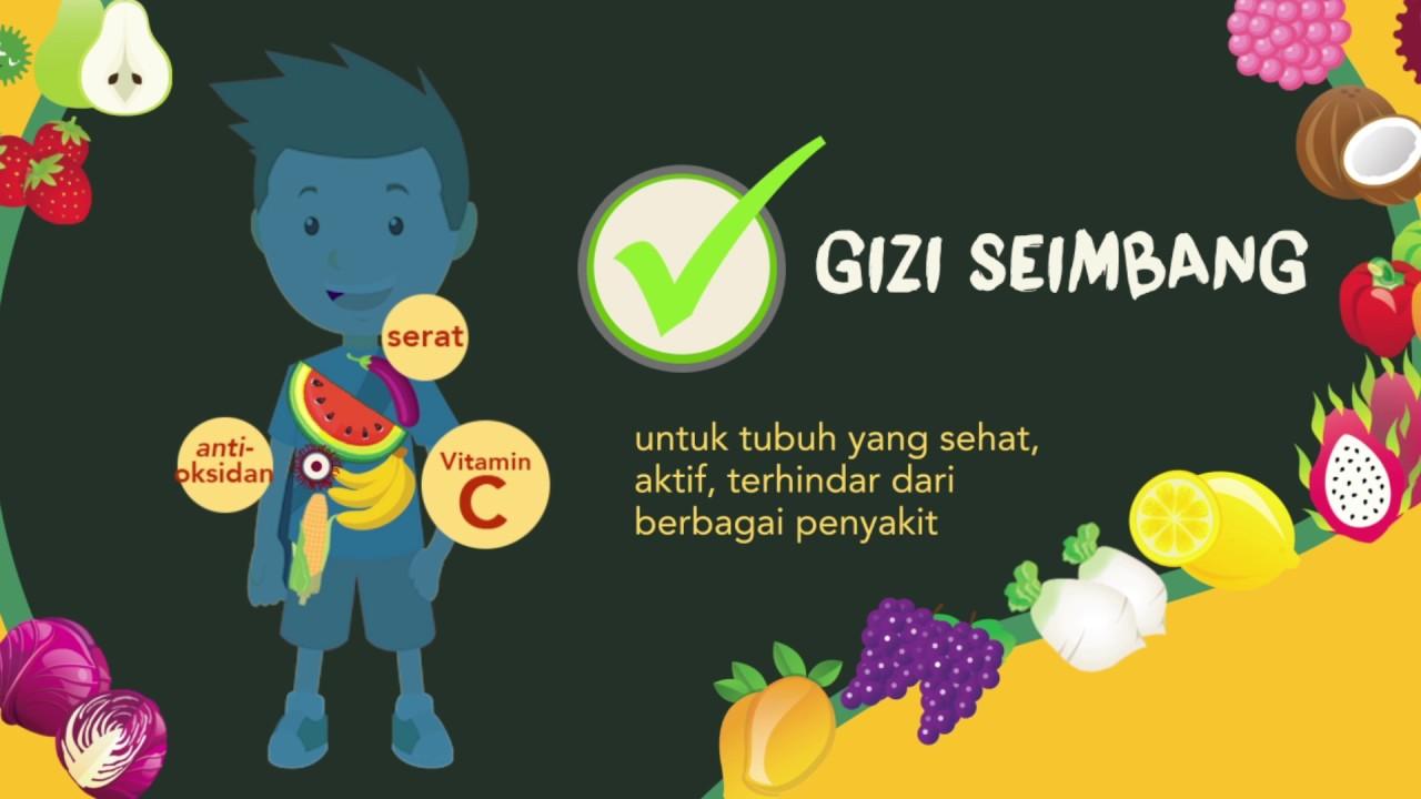 Infografis Iklan Layanan Masyarakat Sayur Dan Buah Kementerian