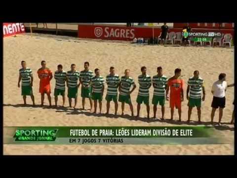 Futebol de Praia :: Primeira fase da Divisão de Elite concluída no 1ª lugar em 2015