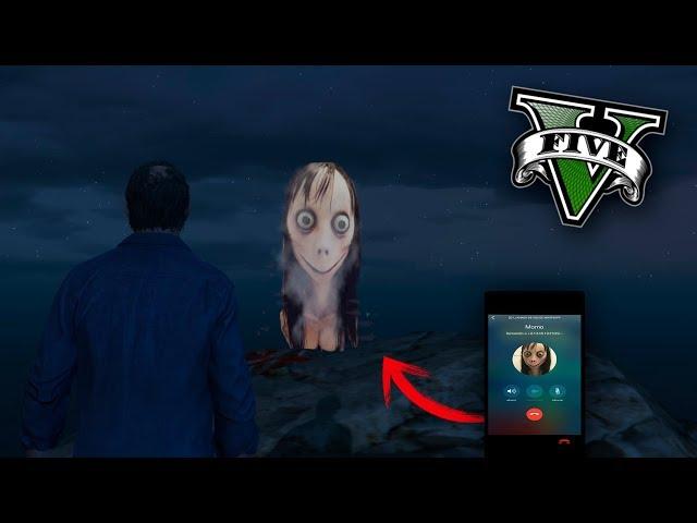 GTA V PC MODS - ENCUENTRO A MOMO ! EL FANTASMA DE MOMO EN GTA 5 - ElChurches