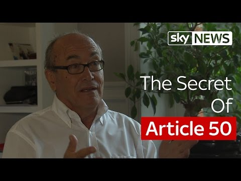 Former Top EU Lawyer Says Article 50 Is Not Entirely Final