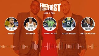 First Things First audio podcast (4.3.19) Cris Carter, Nick Wright, Jenna Wolfe   FIRST THINGS FIRST