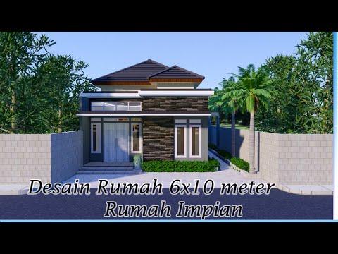 desain rumah 6x10 meter, model sederhana tapi keren